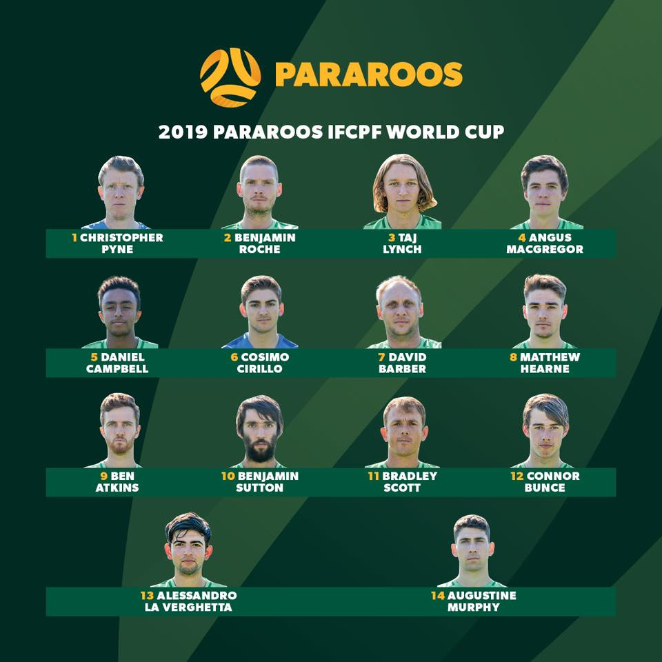 Pararoos World Cup Squad